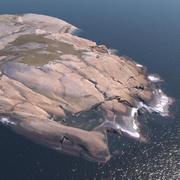 Archipelago rock - Large coastal rock formation 3d model