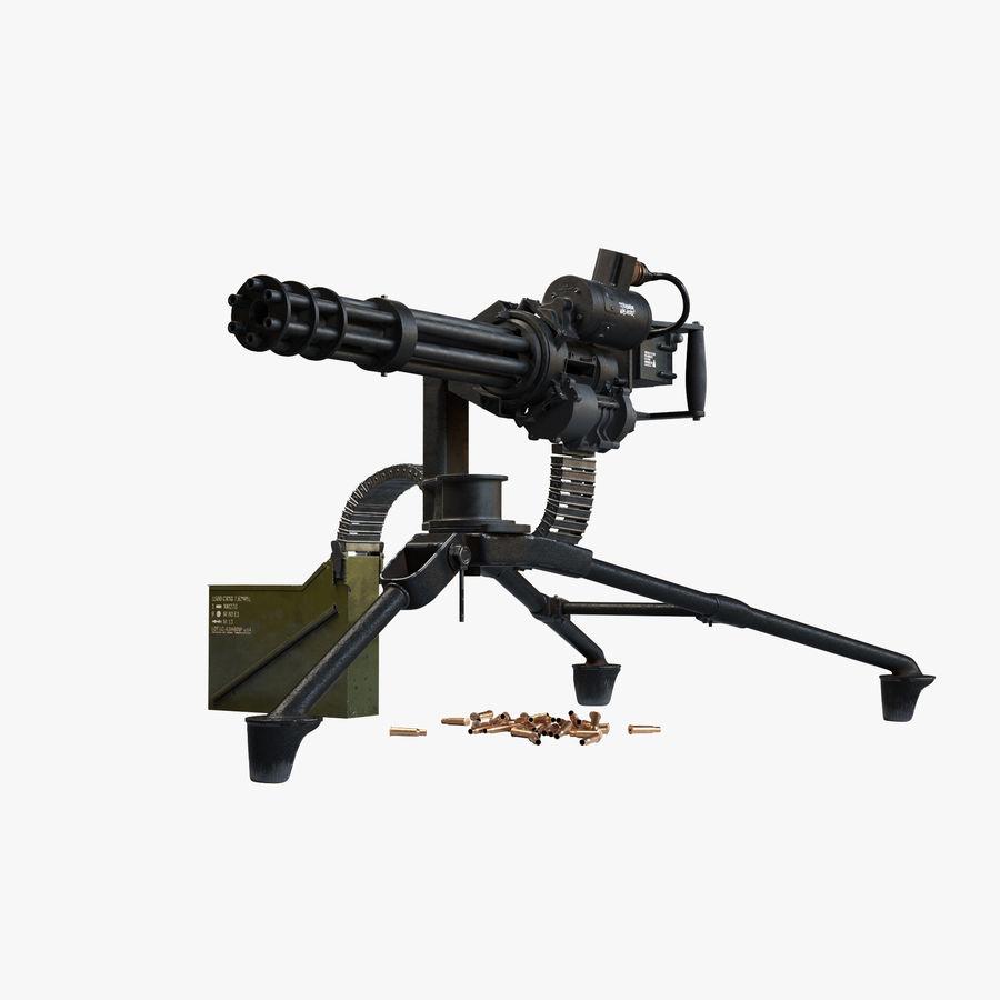 Minigun(1) royalty-free 3d model - Preview no. 1
