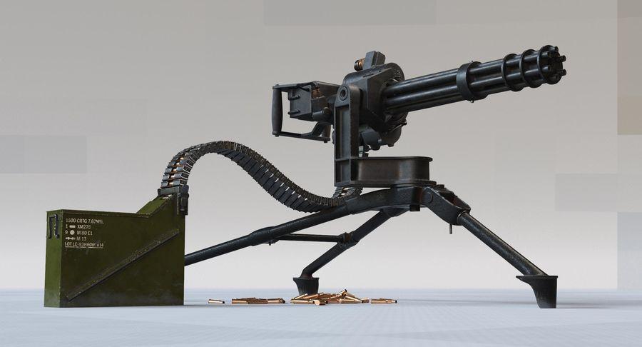 Minigun(1) royalty-free 3d model - Preview no. 4