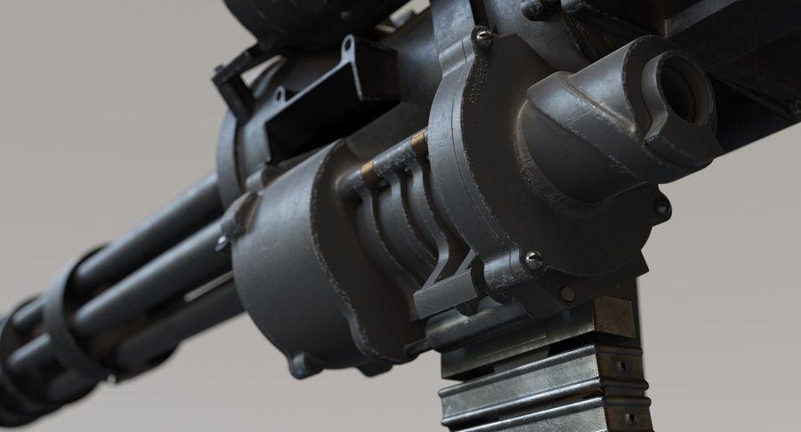 Minigun(1) royalty-free 3d model - Preview no. 14