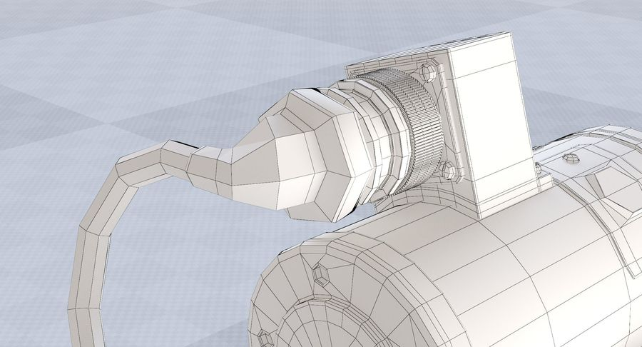 Minigun(1) royalty-free 3d model - Preview no. 30