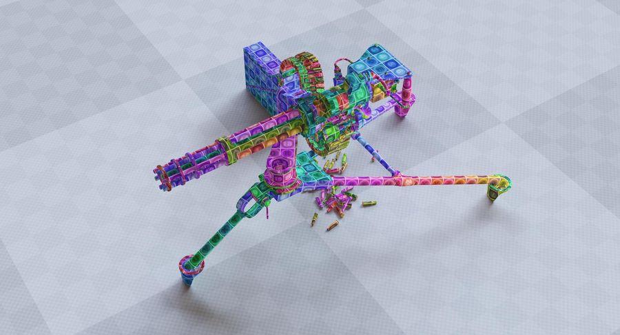 Minigun(1) royalty-free 3d model - Preview no. 40