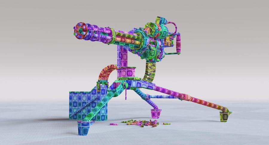 Minigun(1) royalty-free 3d model - Preview no. 36
