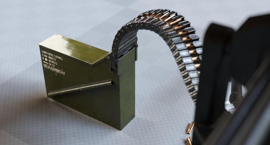 Minigun(1) royalty-free 3d model - Preview no. 11