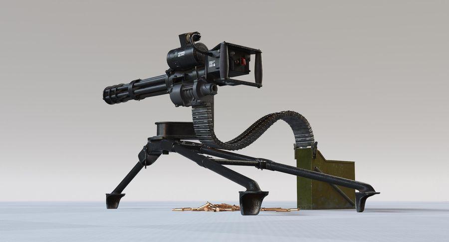 Minigun(1) royalty-free 3d model - Preview no. 5