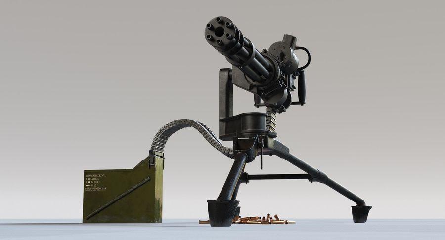Minigun(1) royalty-free 3d model - Preview no. 8