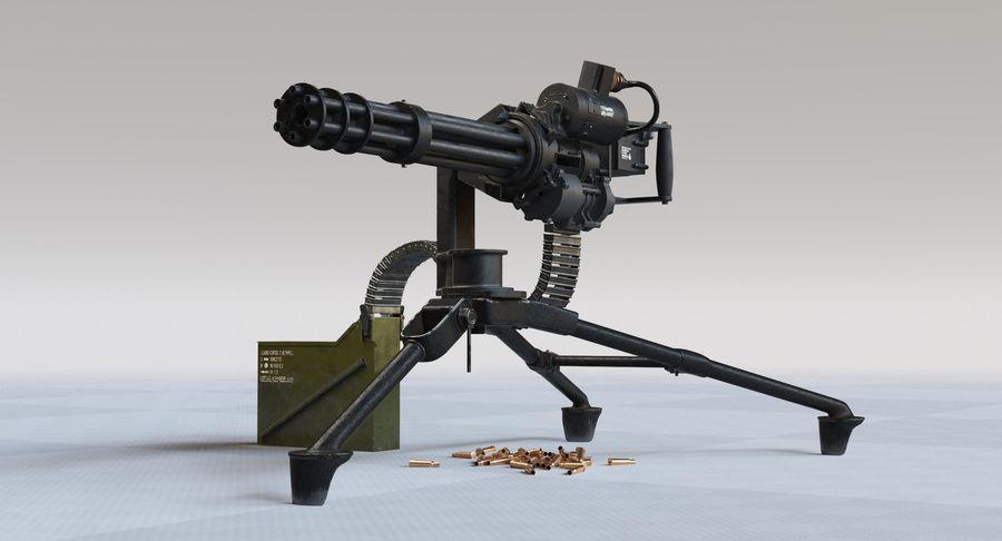 Minigun(1) royalty-free 3d model - Preview no. 2