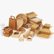 Set di alimenti per l'imballaggio 3d model