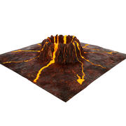 Krater wulkaniczny 3d model