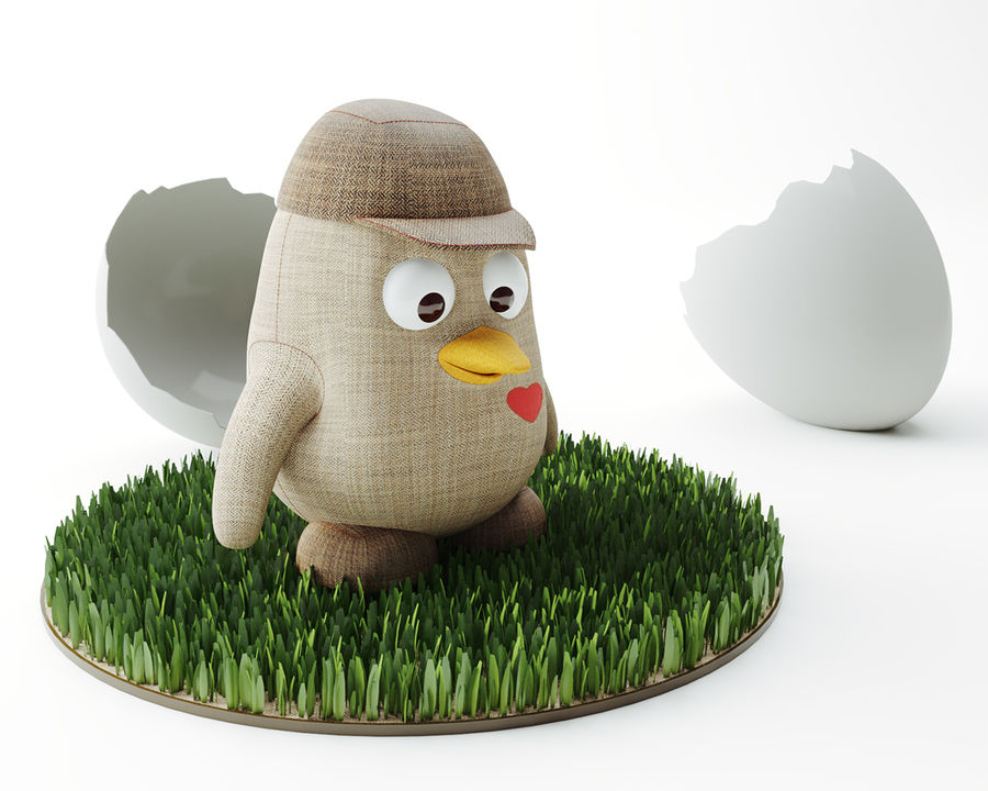 Toy_Penguin royalty-free 3d model - Preview no. 1