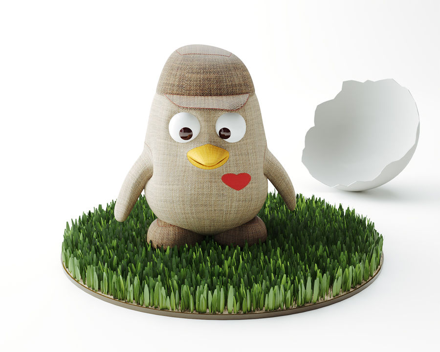Toy_Penguin royalty-free 3d model - Preview no. 2