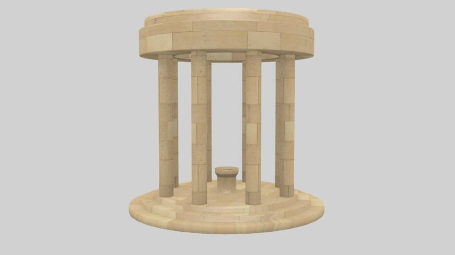 Altar Antiguo royalty-free modelo 3d - Preview no. 1