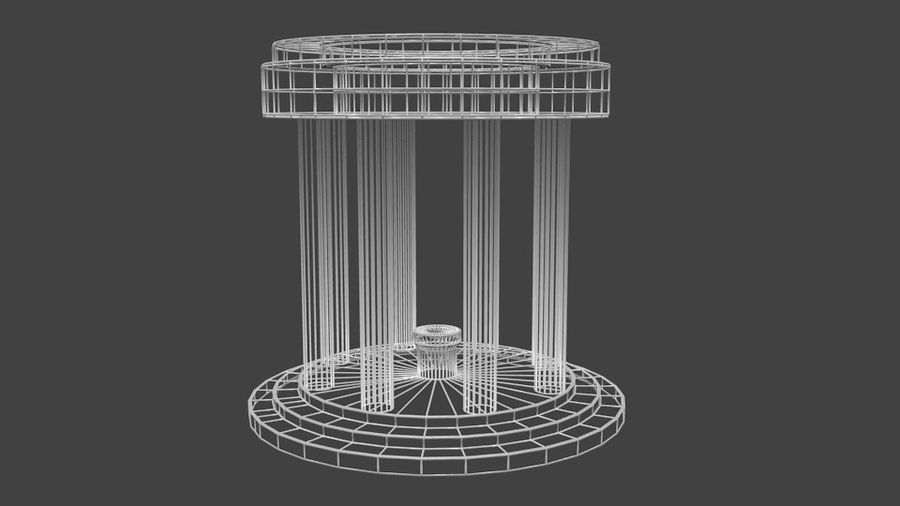 Altar Antiguo royalty-free modelo 3d - Preview no. 4