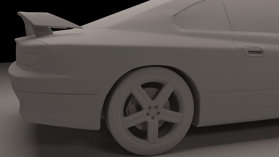 Nissan Silvia S15 royalty-free 3d model - Preview no. 3