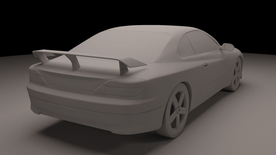 Nissan Silvia S15 royalty-free 3d model - Preview no. 4