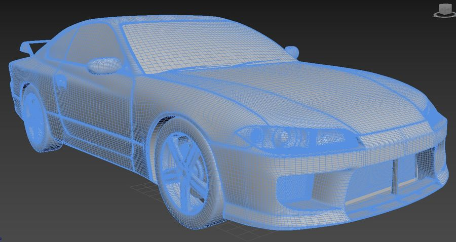 Nissan Silvia S15 royalty-free 3d model - Preview no. 5
