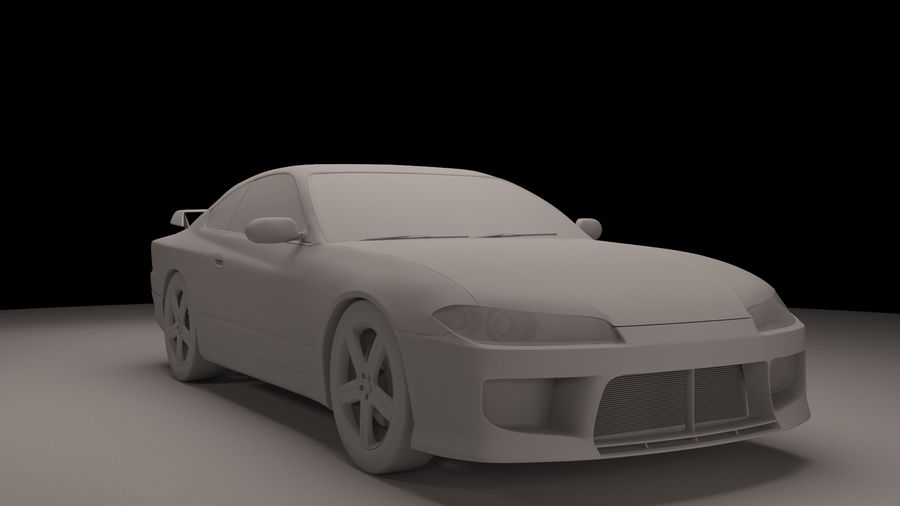 Nissan Silvia S15 royalty-free 3d model - Preview no. 1