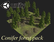 Pack forêt de conifères 3d model