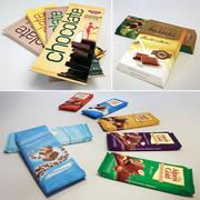 En uppsättning chokladkakor 3d model