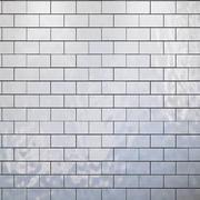 Conjunto de azulejos padrão de geometria branco 3d model