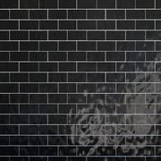 Conjunto de azulejos padrão de geometria preto 3d model