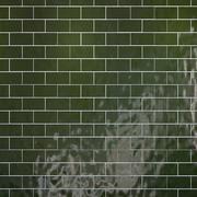 Conjunto de azulejos padrão de geometria verde 3d model