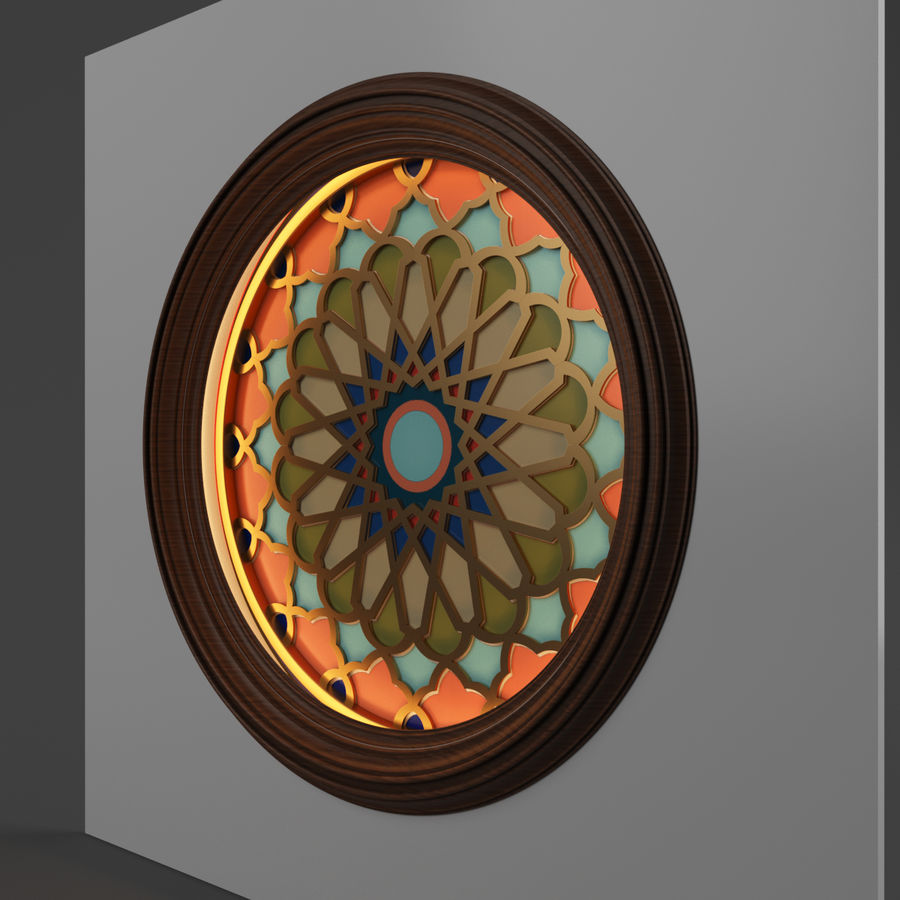 ceiling medallion decor architecture royalty-free 3d model - Preview no. 3