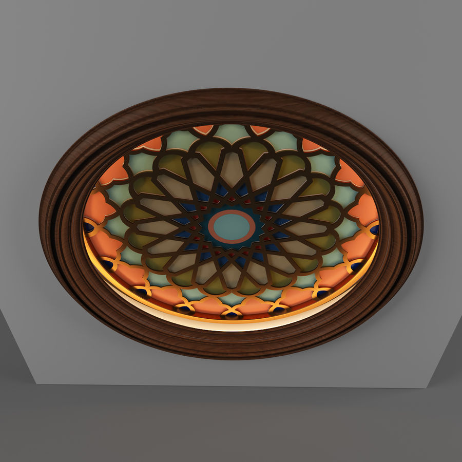 ceiling medallion decor architecture royalty-free 3d model - Preview no. 1