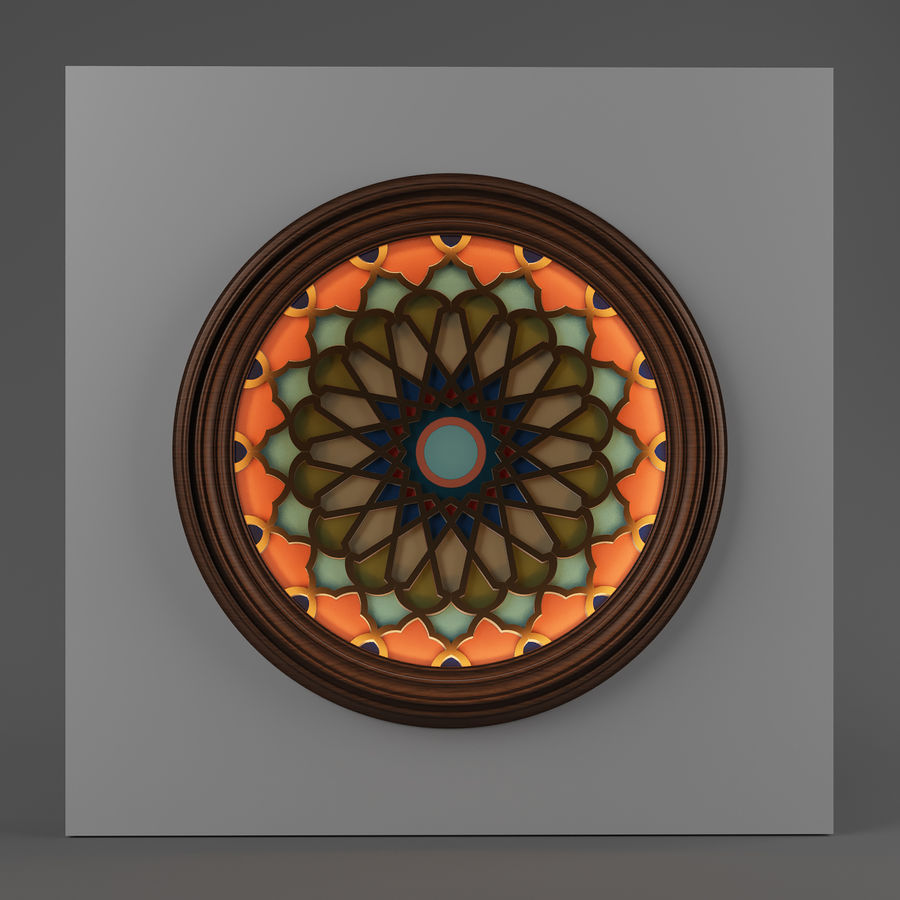 ceiling medallion decor architecture royalty-free 3d model - Preview no. 2