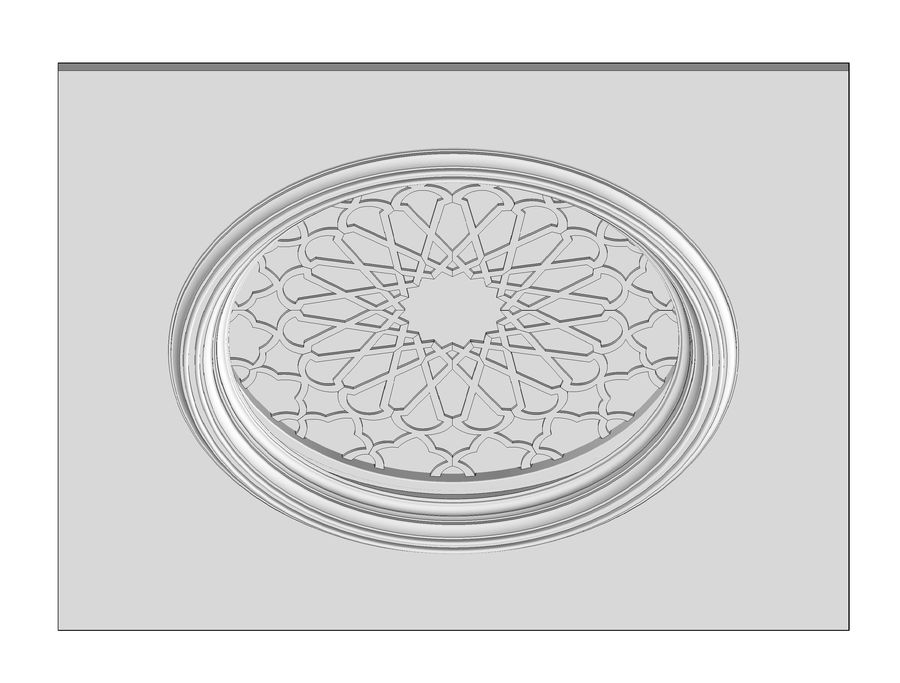 ceiling medallion decor architecture royalty-free 3d model - Preview no. 6