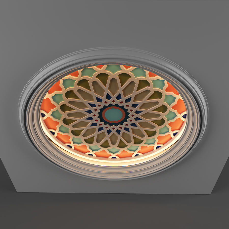 ceiling medallion decor architecture royalty-free 3d model - Preview no. 5