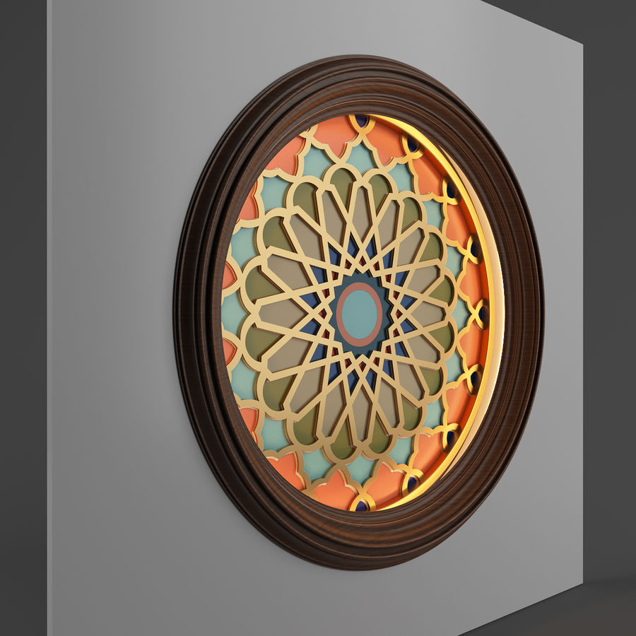 ceiling medallion decor architecture royalty-free 3d model - Preview no. 4