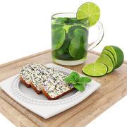 緑茶とポピーシードケーキ 3d model