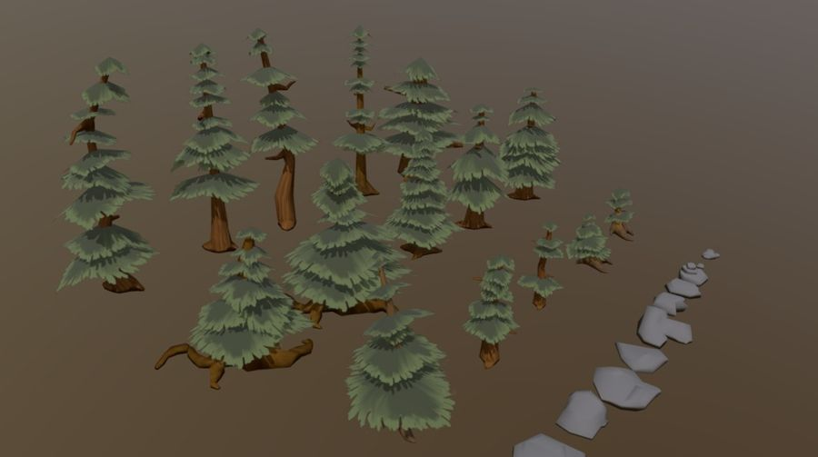 Forest Asset Bundle royalty-free 3d model - Preview no. 5