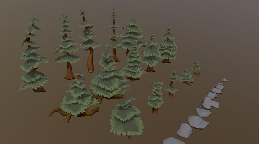 Pakiet zasobów leśnych royalty-free 3d model - Preview no. 5