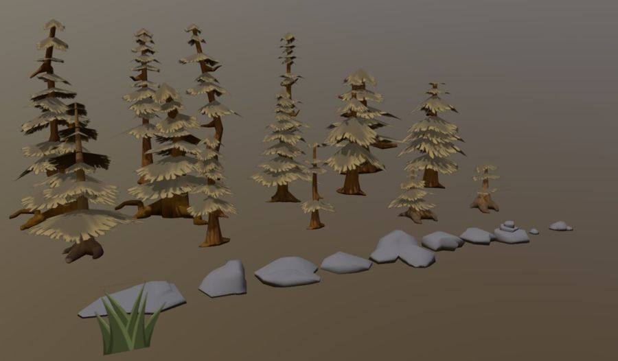 Forest Asset Bundle royalty-free 3d model - Preview no. 3