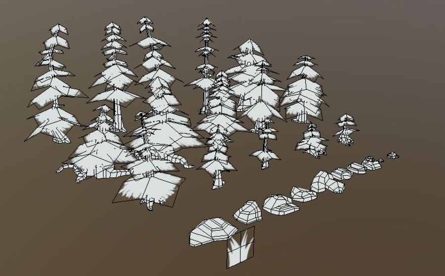 Forest Asset Bundle royalty-free 3d model - Preview no. 2