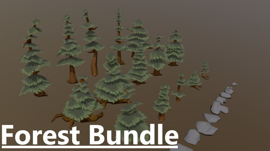 Forest Asset Bundle royalty-free 3d model - Preview no. 1