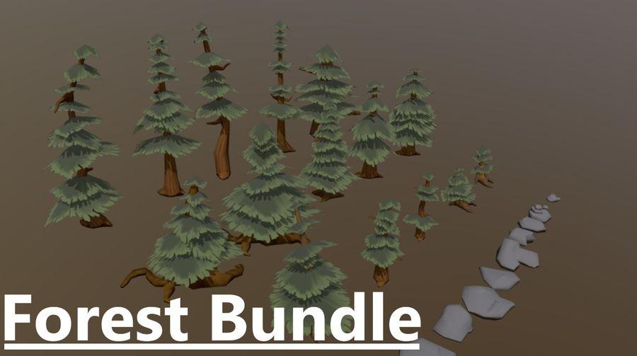Paquete de activos forestales royalty-free modelo 3d - Preview no. 1