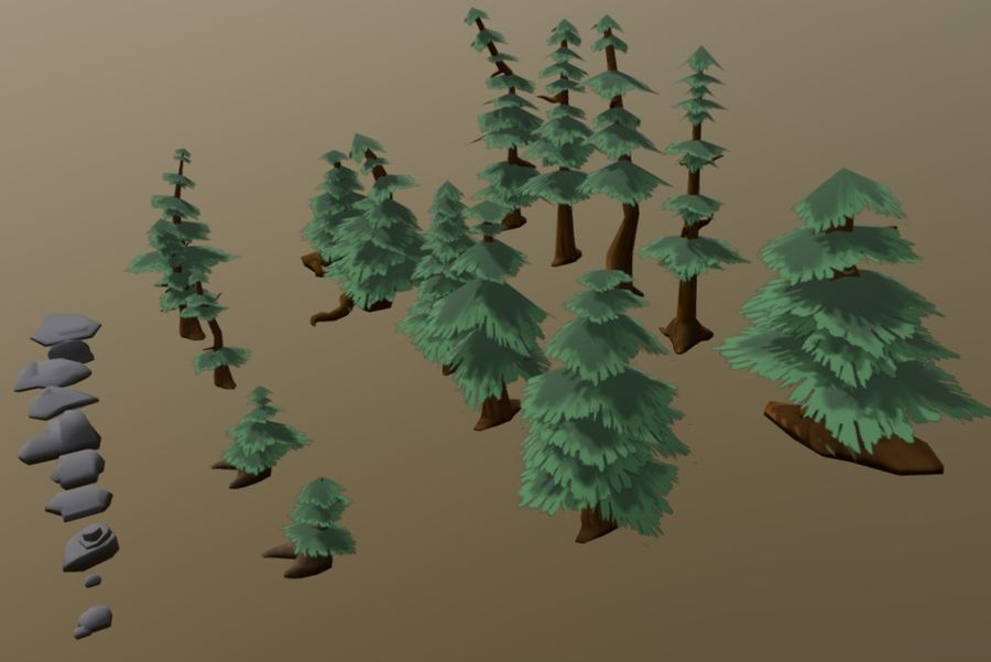 Forest Asset Bundle royalty-free 3d model - Preview no. 4