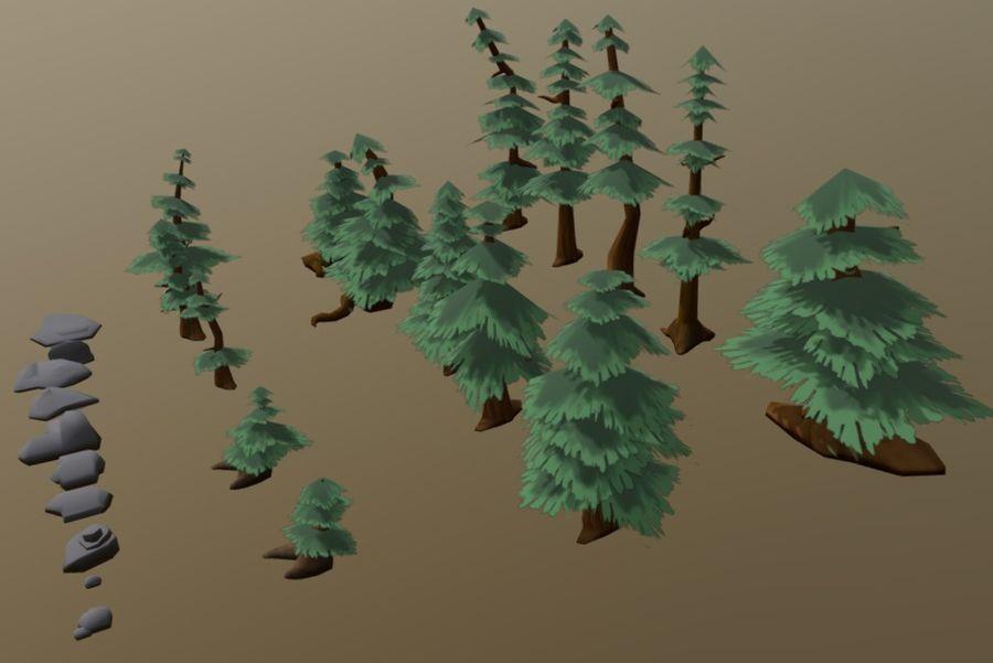 Pakiet zasobów leśnych royalty-free 3d model - Preview no. 4
