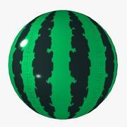 summer beachBall watermelon toon 3d model