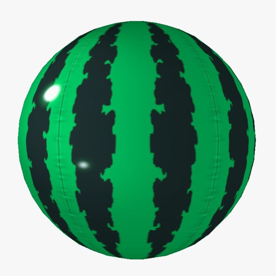 summer beachBall watermelon toon royalty-free 3d model - Preview no. 1