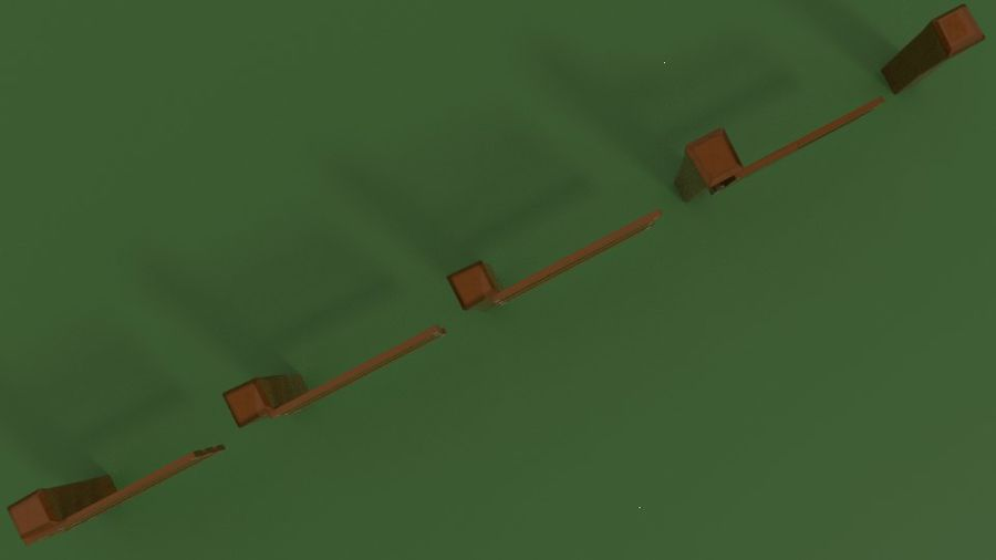 Stylised fence royalty-free 3d model - Preview no. 7