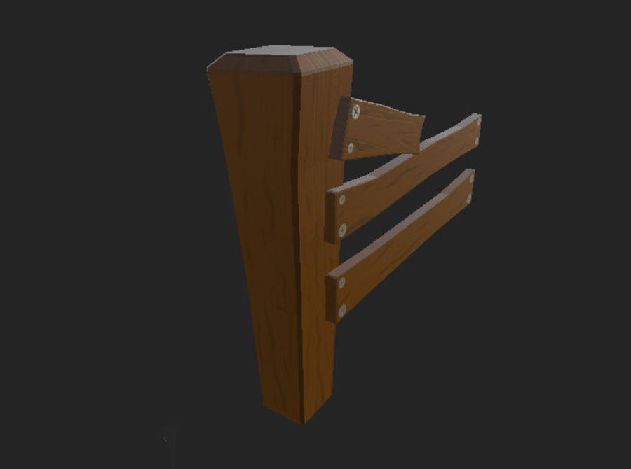 Stylised fence royalty-free 3d model - Preview no. 4