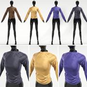 Skjorta 4 färg med skyltdocka 3d model