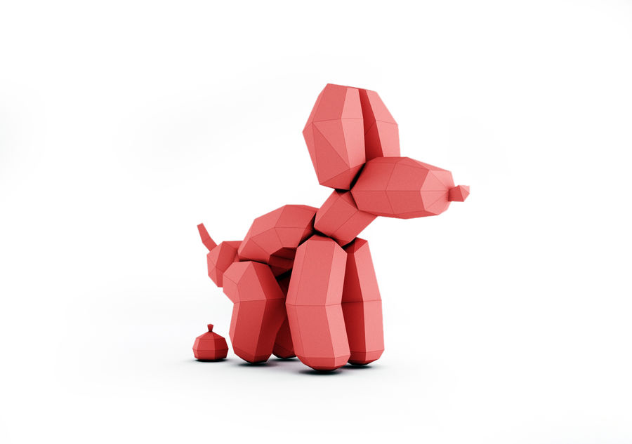 Balloon Dog royalty-free 3d model - Preview no. 1