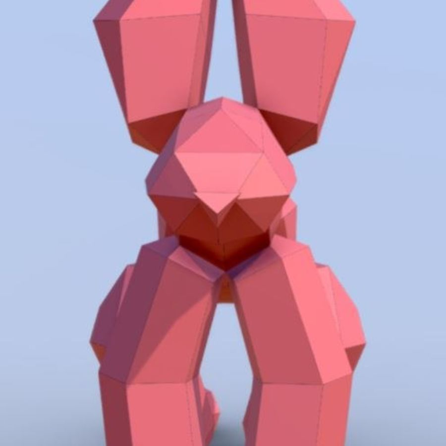 Balloon Dog royalty-free 3d model - Preview no. 6