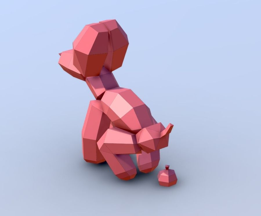 Balloon Dog royalty-free 3d model - Preview no. 4