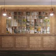 Conjunto de painéis de parede 72 3d model